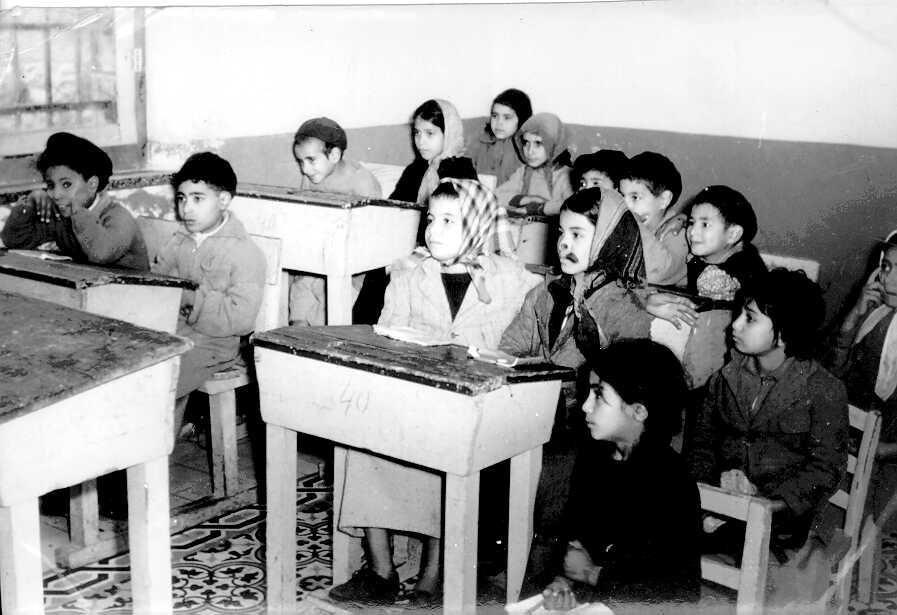 תלמידים כורדים בבית הספר בליפתא 1953